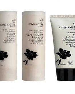 living nature losse producten droge en rijpe huid