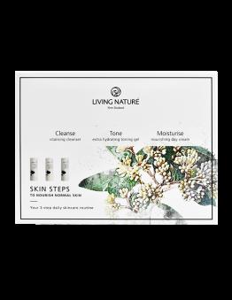 living nature skin steps pakket normale gecombineerde huid