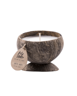 we love the planet candle arctic white