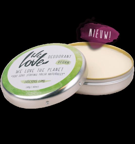we love the planet deo blik lucious lime vegan