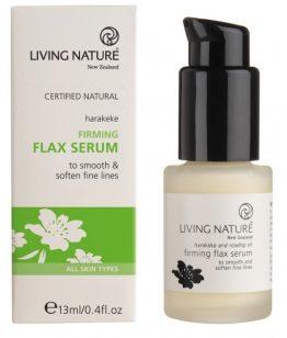 living nature firming flax serum