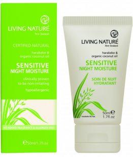 living nature nachtcrème voor de gevoelige huid