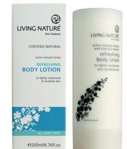 living nature verfrissende hand en body lotion 200ml
