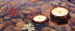 Cocosnoot kaarsen